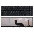 Клавиатура для ноутбука Acer Aspire 8935, 8935G, 8940, 8942, 8942G, Черная, с подсветкой