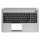 Верхняя панель для ноутбука Asus X501 с клавиатурой 0KNB0-6101RU00 0KNB0-6103RU00 90R-NMO2K1K80U White panel, black buttons