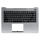 Верхняя панель для ноутбука Asus S400CA с клавиатурой 0KNB0-4107RU00 0KNB0-4108RU00 0KNB0-4124RU00 90NB0051-R31RU0 Silver panel, black buttons