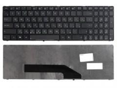 Клавиатура для ноутбука Asus K50, F52, F90, K51, K60, K61, K70, K71, P50, Pro5DiJ, Pro66IC, X5, X70 Чёрная, с рамкой