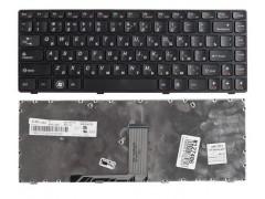 Клавиатура для ноутбука Lenovo B470, B470A, B470G, B475, G470, G470A, G470G, G475, G475A, G475E, G475G, G475L, V470, V470A, V470G, V470P, Z470, Z470A, Z470G Чёрная с рамкой