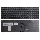 Клавиатура для ноутбука Lenovo IdeaPad Z560, Z565, G570, G575, G770, G550, G585, G780, V570, B590, Чёрная, серая рамка