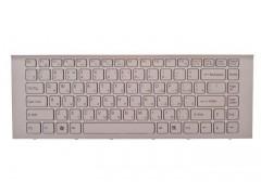 Клавиатура для ноутбука Sony Vaio VPC-EG, VPCEG, VPC-EK, VPCEK, VPCEG1S1R, VPCEG1S1R, VPCEK3S1R, VPCEK2S1R, VPCEK3S1R белая с рамкой