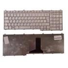 Клавиатура для ноутбука Toshiba Satellite A500, F501, P505, L350, L500, P200, P300, X200, X300, X500 Серебристая